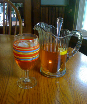 """Awhile back, southern gal and author CurtissAnn Matlock showed us her secrets to proper sweetened """"ice tea."""" (Image from CurtissAnn Matlock, used with permission)"""