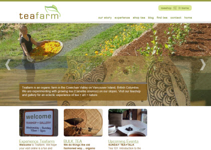 Canada's Teafarm (image capture from site)