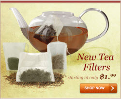 ETS Drawstring Tea Filters (Natural Unbleached) will keep that tea out of your tea! (ETS image)