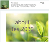 Tea 2030 launches (screen capture from site)