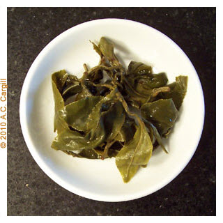 Full-leaf oolong steeped loose (no infuser) (Photo by A.C. Cargill - used with permission)