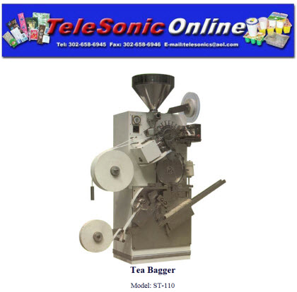 Yes, those little teabags are made on a machine like this. (screen capture from site)
