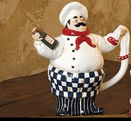 Chef Leeabaldi Ceramic Teapot (actually, he's kinda cute!) (Yahoo! Images)