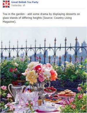 Great British Tea Party garden tea