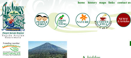 Los Andes Tea Gardens (screen capture from their site)