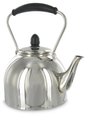 So, let your imaginations run wild and leave us a comment here on what you see in this Stovetop Stainless Steel Tea Kettle by Cuisinart - all decent responses will be posted. (ETS image)