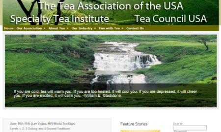 The Tea Association of the USA (screen capture from site)