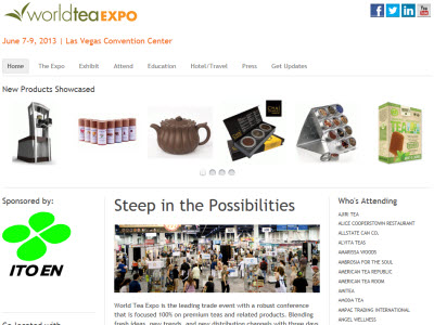 The World Tea Expo showcasing the latest in tea. (screen capture from site)
