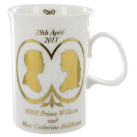 Dunoon Royal Wedding Devon Shape Mug (ETS image)
