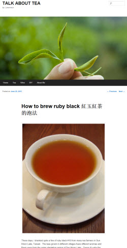 """""""How to brew ruby black"""" from Talk About Tea (screen capture from site)"""