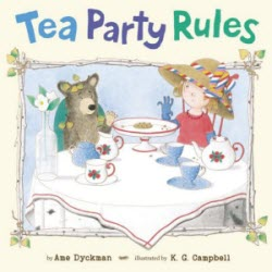 Tea Party Rules by Ame Dyckman (screen capture from site)