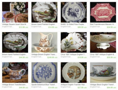 Transferware colors have a wide range (screen capture from site)