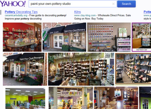Some paint-your-own-pottery studios from Yahoo! Images