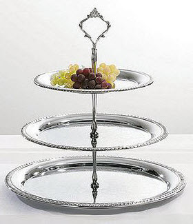 The tiered tray, loaded with goodies, is a hallmark of a true British tea time! (ETS image)