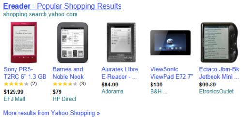 ereaders via Yahoo! Images