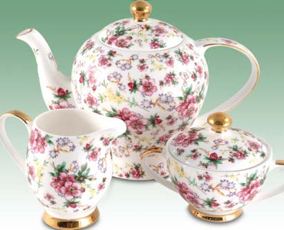 Such fine bone china teawares inspire good manners! (ETS image)