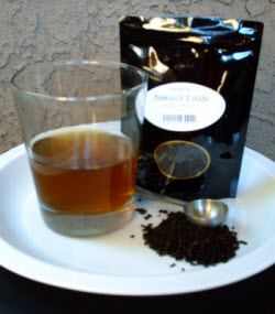 Giving the English Tea Store's Nonsuch Estate Nilgiri a try. (photo by William I. Lengeman, III - all rights reserved)