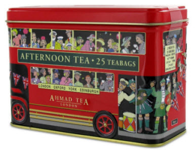 Ahmad London Bus Tin filled with English Afternoon Tea (ETS image)