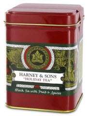 Harney and Sons Holiday Tea, a part of the flavored tea section of the puzzle! (ETS image)