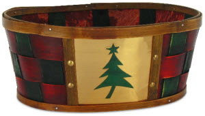 Holiday Gift Basket - Splitwood Tub with Tree (ETS image)
