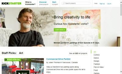 Kickstarter (Screen capture from site)