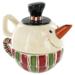 Snowman Stacked Tea for One (ETS image)
