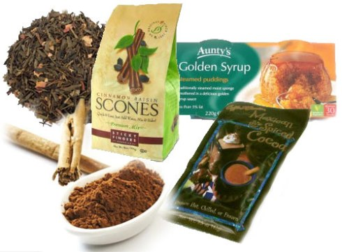 Tea, scones, cakes, and even cocoa can get a spicing up with cinnamon! (ETS images and stock image)