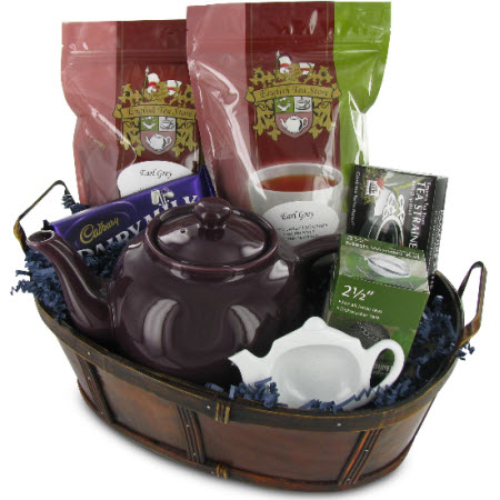 One of those gift options that Santa can bring us: Earl Grey Tea Gift Basket (ETS image)
