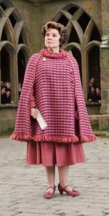 "Still of Imelda Staunton as Dolores Umbridge in ""Harry Potter and the Order of the Phoenix"" (Screen capture from site)"