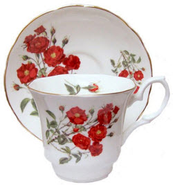 Romantic Rose Fine Bone China - Avon Cup and Saucer