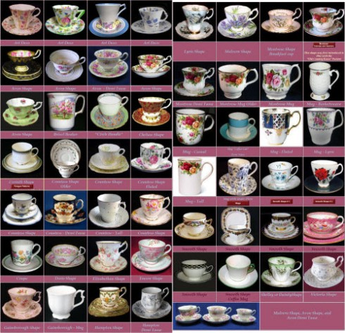 Royal Albert pottery cup shapes (Screen capture from site)