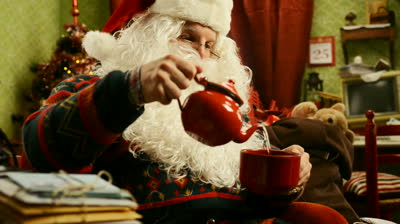 Santa's tea! (stock image)