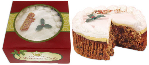 Top Iced Christmas Cake by Norfolk Manor (ETS image)