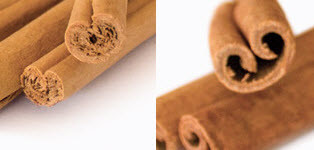 Left: True Cinnamon. Right: Cinnamon Cassia. (Stock image)