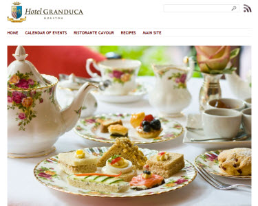 Hotel Granduca in Houston, Texas (screen capture from site)