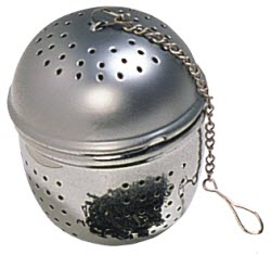 A 2-piece tea ball with holes too large for dust form teas. (Stock image)