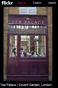 Tea Palace Covent Garden London