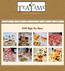 Tea Time, a tea party catering company in Hong Kong (Screen capture from site)