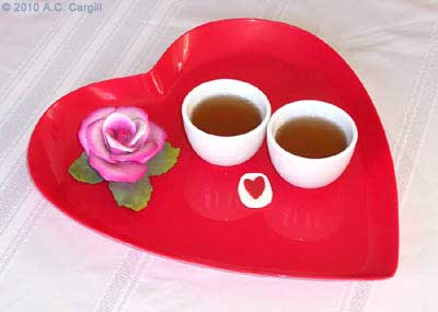 Have a heartful tea time with your Valentine! (Photo by A.C. Cargill, all rights reserved)