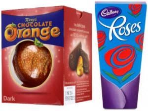 Cadbury Roses and Terry's Dark Chocolate Orange (ETS image)