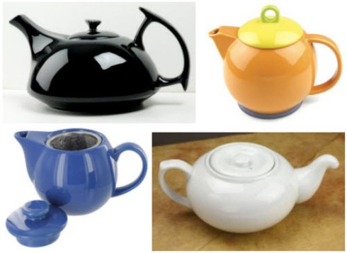 4 sleek and elegant teapots (all ETS images)