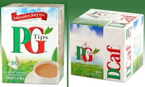 PG Tips satisfies both those who and don't want caffeine (ETS images)