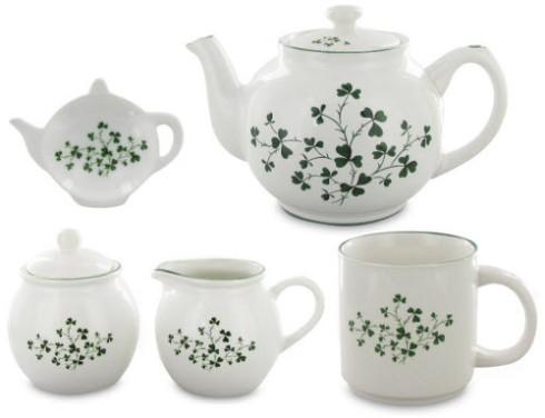 Shamrock Teawares for an Irish tea time! (ETS images)