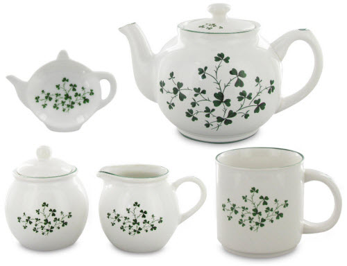 Shamrock Teawares for an Irish tea time! (ETS images)