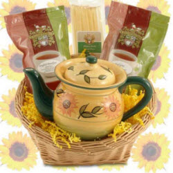 Simply Sunflowers Gift Basket (ETS image)