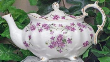 Victorian Violets Fine Bone China Teapot to steep that tea up just right! (ETS Image)