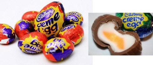 Cadbury Crème Eggs with that eggy-looking center! (From Yahoo! Images)