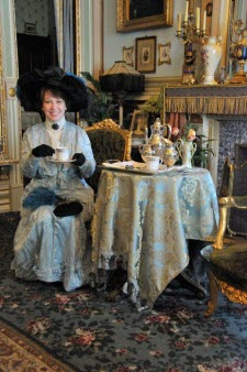 The Victorian Lady takes tea! (image used with permission)