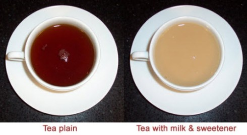 Some say you shouldn't put milk in your tea. Others say you should. (Photo by A.C. Cargill, all rights reserved)