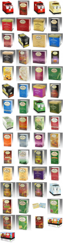 Our line-up of Twinings Teas (ETS image)